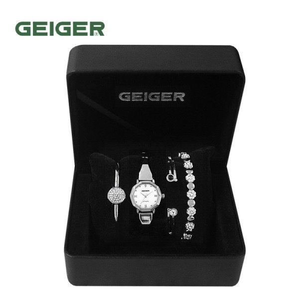 [GEIGER] SET 가이거 여성 메탈 시계 GE61200_WS