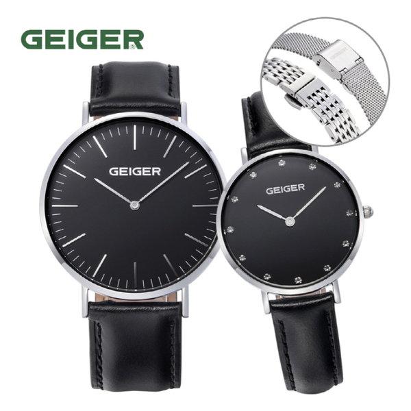 [GEIGER] 가이거 남녀 커플 시계 GE8018_WBBK