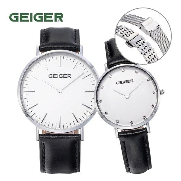 [GEIGER] 가이거 남녀 커플 시계 GE8018_WTBK