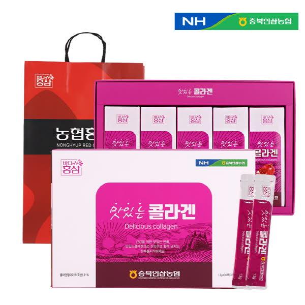 농협 맛있는 콜라겐스틱 (13g X 30스틱) / 고급쇼핑백포함