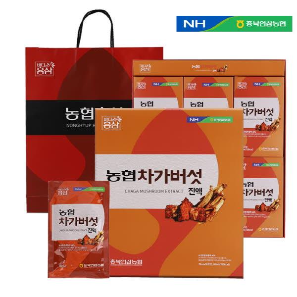 농협 차가버섯진액 (70ml X 30포) / 고급쇼핑백포함