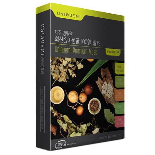 유니크미 제주 화산송이동굴 100일 발효 마스크팩 25ml*5EA