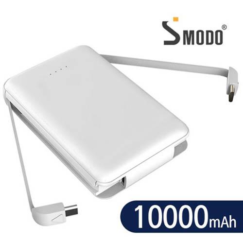에스모도 SMODO-889 듀얼케이블 일체형 10,000mAh 보조배터리