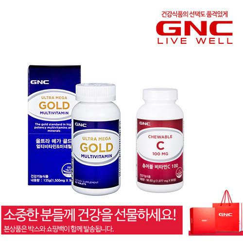 [GNC] 프리미엄 남녀 종합비타민 2종세트-선물박스+쇼핑백포함