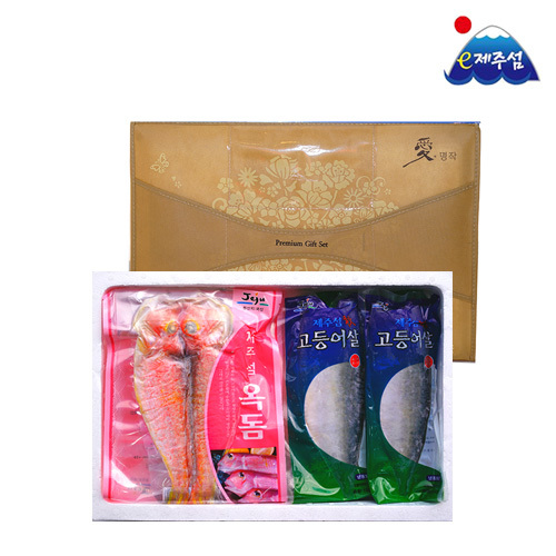 [e제주섬 명품 제주산지무료직송] 제주옥돔+고등어살세트/옥돔180g*3미+고등어살(중)*5팩