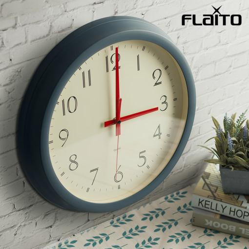 플라이토 레트로 원형 무소음 인테리어벽시계 35cm