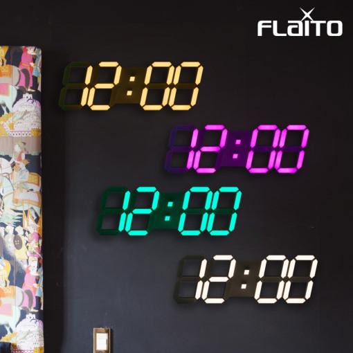 플라이토 컬러 3D LED 벽시계 시즌4 38cm