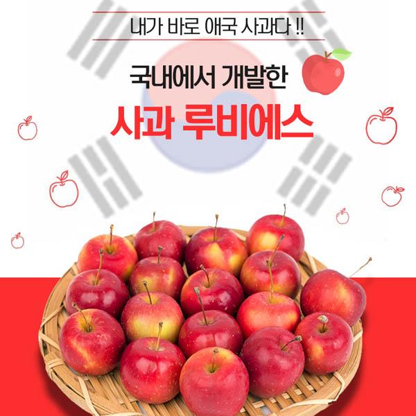 영천 미니사과 루비에스 1박스 2k(4팩)