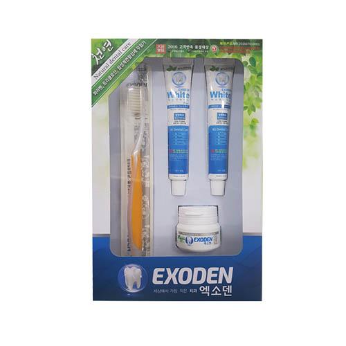 엑소덴 여행 세트 D EXODEN Toothbrush (분말10g + 치약 40g*2 + 칫솔1개)