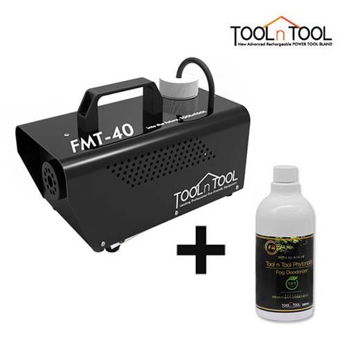 [툴앤툴] 공기청소기 케어로 블랙에디션 새집증후군 냄새제거 FMT-40(블랙)  + 전용 피톤치드액 500ml