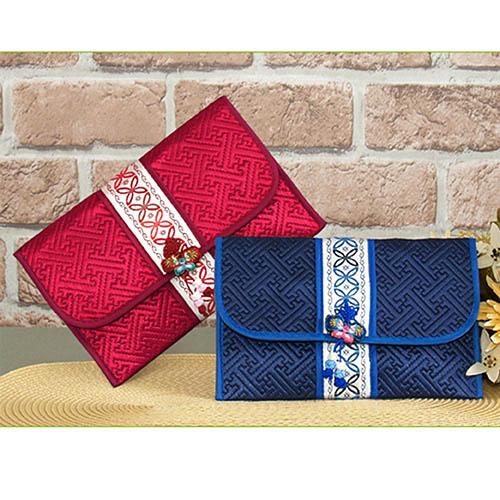 누비 통장지갑 고급형 (색상랜덤)