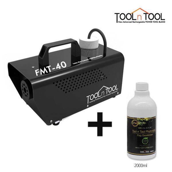 [툴앤툴] 공기청소기 케어로 블랙에디션 새집증후군 냄새제거 FMT-40(블랙)+전용 피톤치드액 2000ml