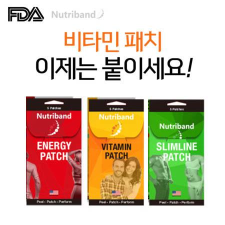 뉴트리밴드 붙이는 에너지 비타민 슬림라인 패치 5p
