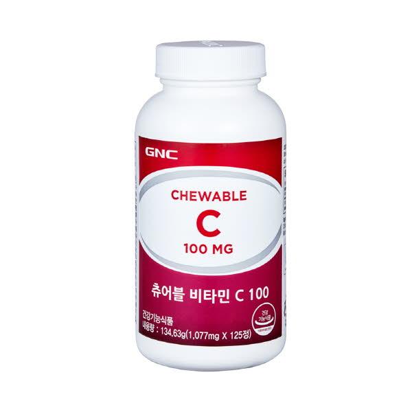 GNC 츄어블비타민C 100 (125정)