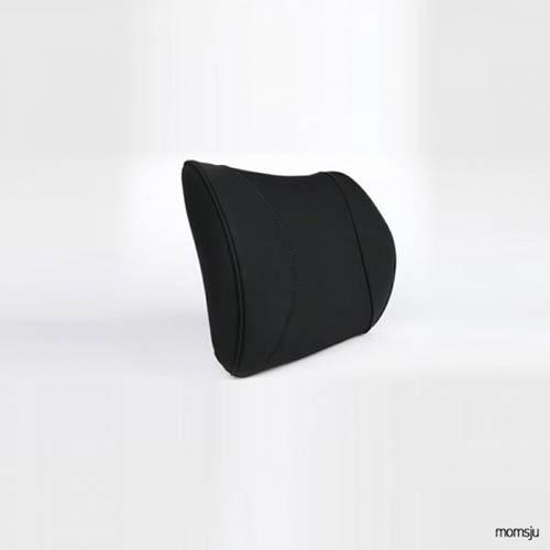 맘스쥬 차량용등쿠션 자동차허리쿠션 블랙 ldc683