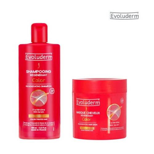 이볼루덤 케라틴 염색모 전용샴푸 400ML + 케라틴 염색모 헤어마스크 500ML