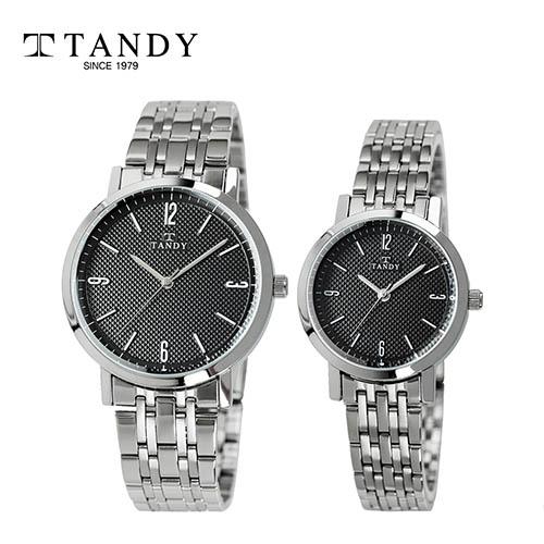 탠디 클래식 커플 메탈 손목시계 T-3705 블랙 남녀 택1