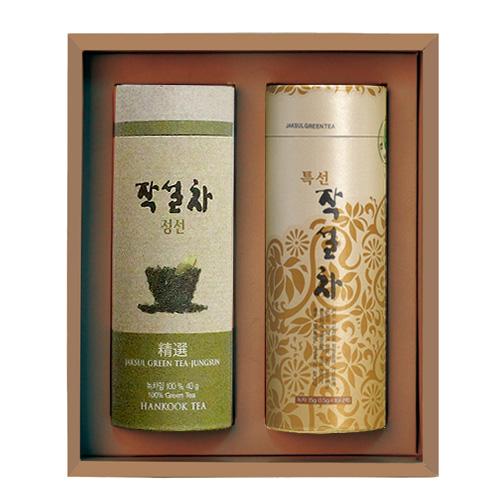 [M22-211]전통식품명인 제54호_서민수 차(茶)명인 특선삼각, 정선녹차 선물세트