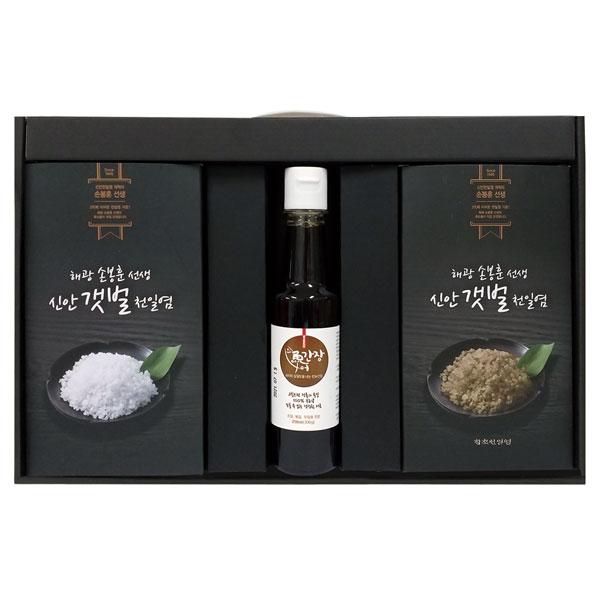 [Q13-128]손봉훈 신안갯벌천일염_건강 시즈닝세트 1호