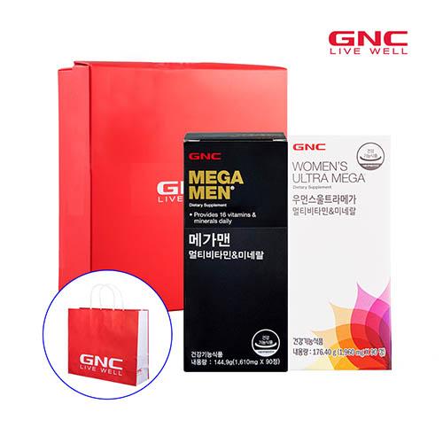 GNC 남녀멀티비타민세트(메가맨 90정 90일분 * 우먼스울트라메가 90정 90일분)