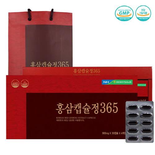 김포파주인삼농협 홍삼캡슐정365 (90mgX30캡슐X4개입)