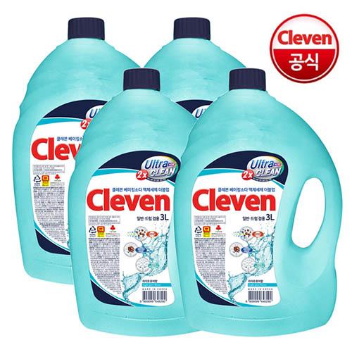 클레븐 베이킹소다 더블업 액체세제 3L * 4개