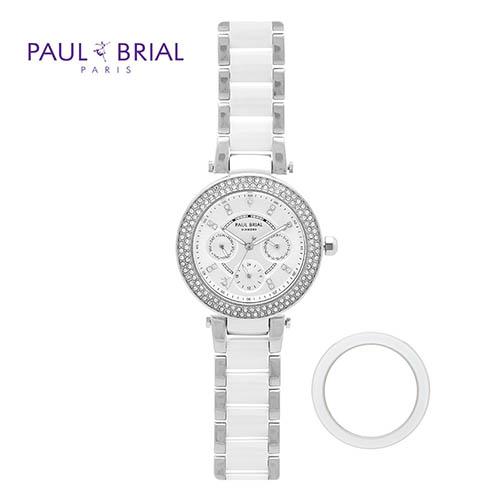 폴브리알 여성 멀티페이스 세라믹시계 PB8018WSS