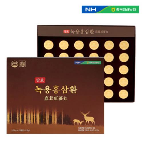 충북인삼농협 발효 녹용홍삼환 3.75g x 30환