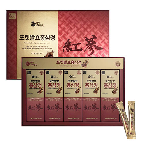 햇터브레인TV 포켓발효홍삼정 스틱 10ml x 30포