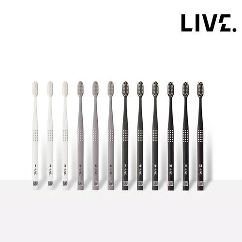 [치과칫솔]라이브오랄스 엠보싱 이중미세모 12개월 칫솔 (12개세트)