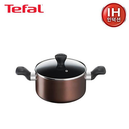 [테팔] 인덕션 초콜릿 티타늄 프로 냄비 양수 20cm TFC-ICP0