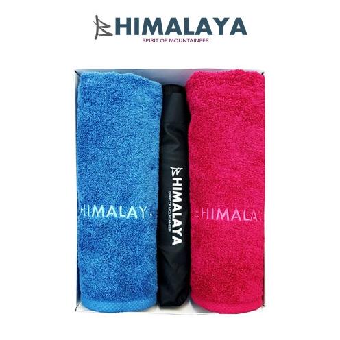 히말라야 타올(140g) 2p+히말라야 3단 완전자동우산/쇼핑백포함