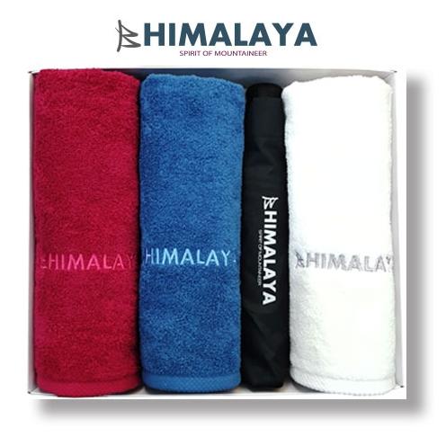 히말라야 타올(140g) 3p+히말라야 3단 완전자동우산/쇼핑백포함