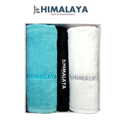 히말라야 타올(160g) 2p+히말라야 3단 완전자동우산/쇼핑백포함