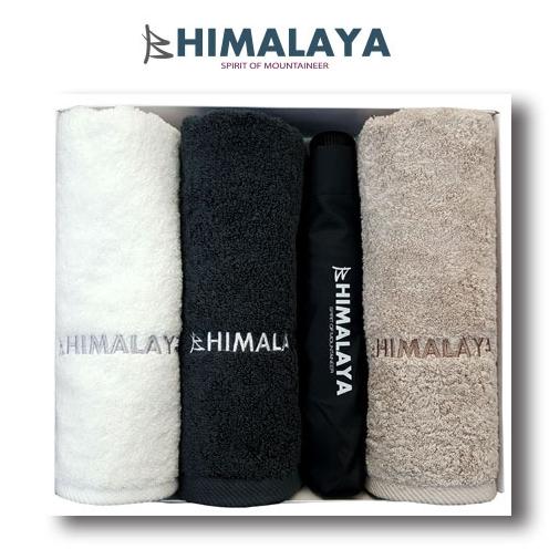 히말라야 타올(180g) 3p +히말라야 3단 완전자동우산/쇼핑백포함