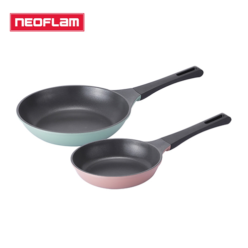 [네오플램] 티타늄코팅 제이드 주물 후라이팬 2종세트 (20+27후라이팬)