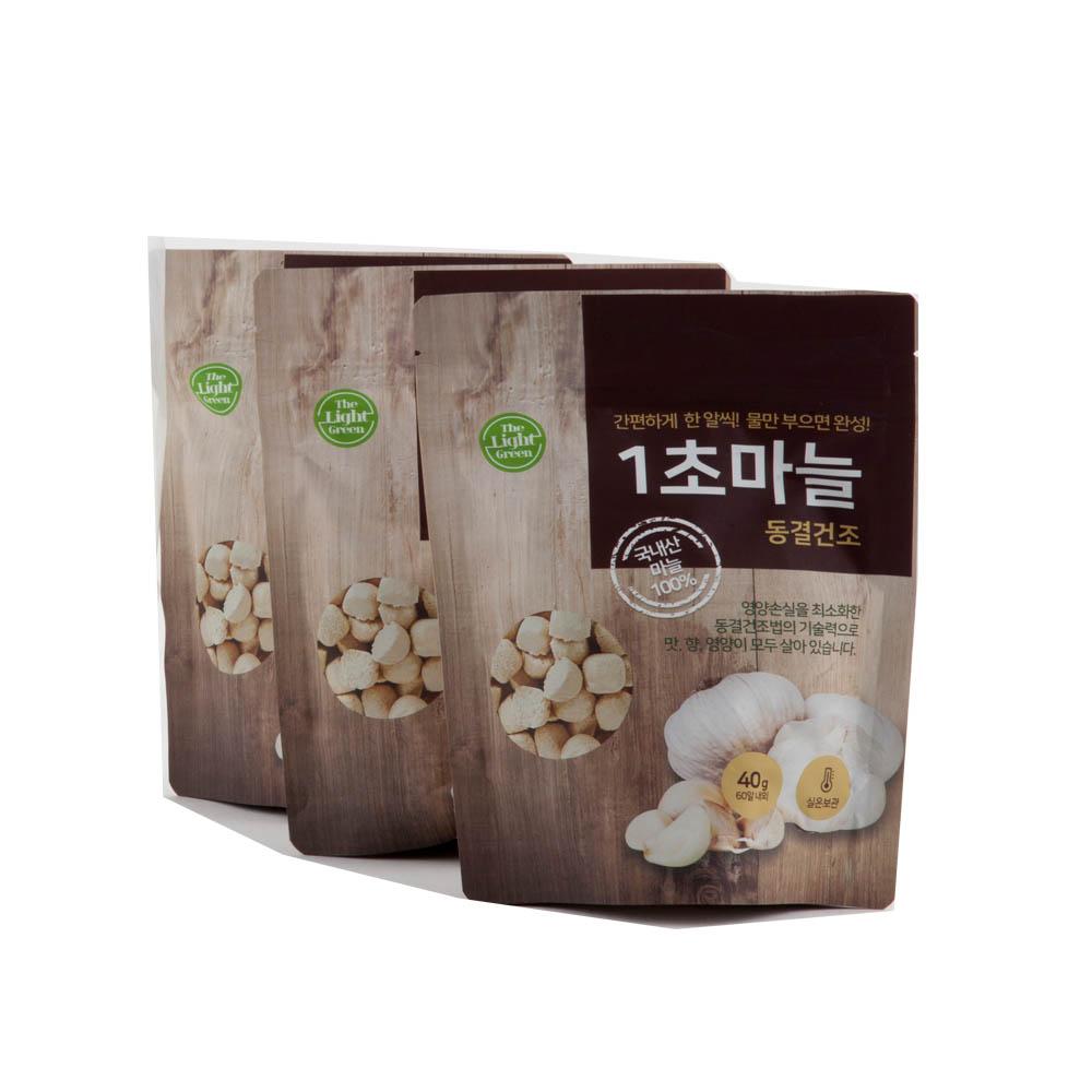 1초 마늘 동결 건조 (3P) (비닐 쇼핑백)