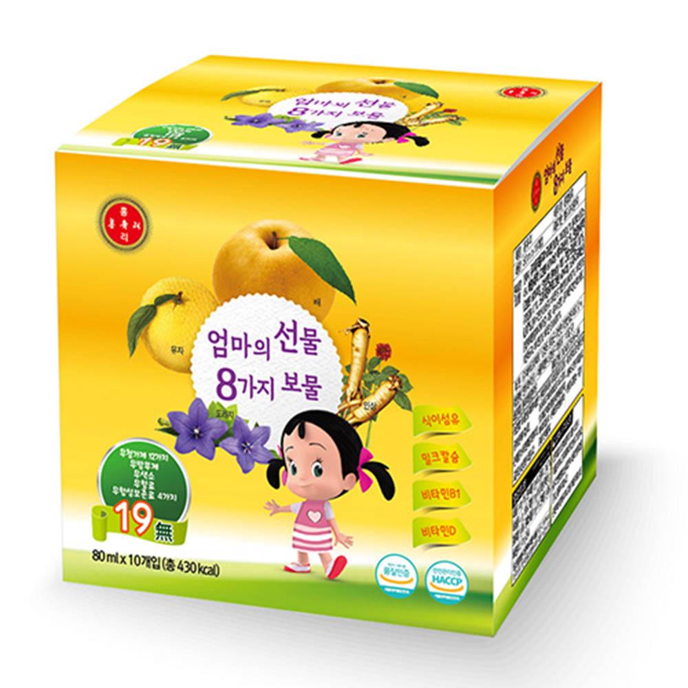 목이 맑아지는 샘 홍유리 130ml x 10ea / 어린이용