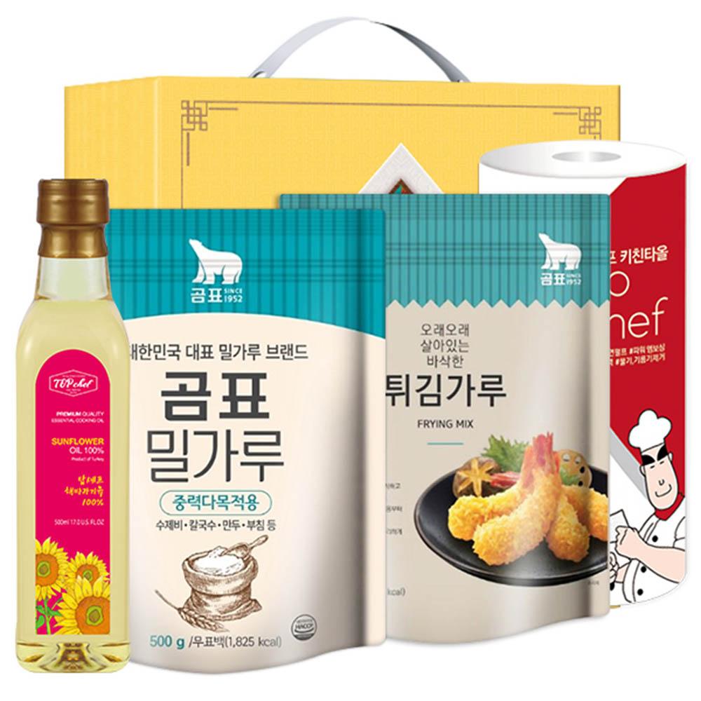 탑셰프 페트해바라기유 곰표밀가루 튀김가루 키친타올(4종)