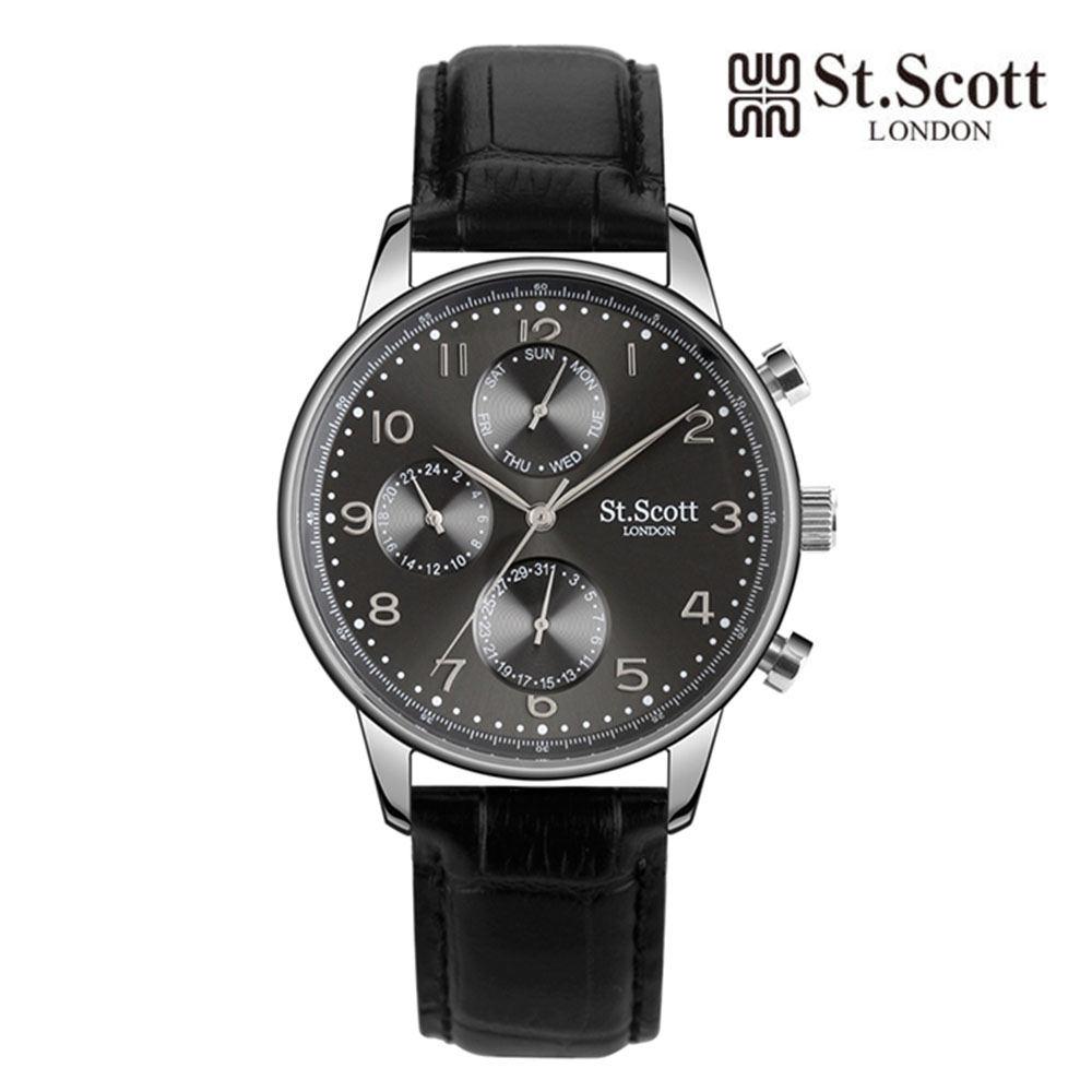 [St.Soott]세인트스코트 남성시계 ST5102L-SGB