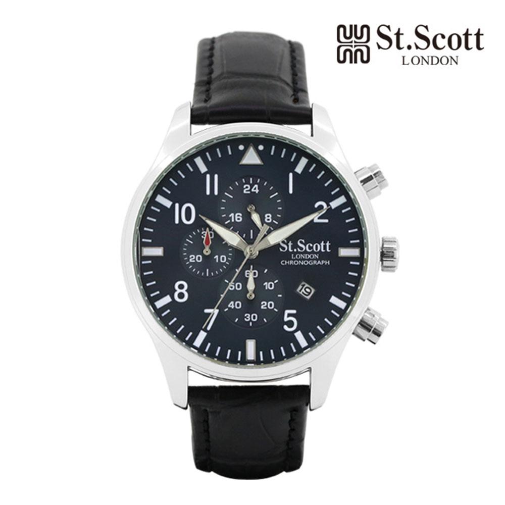 [St.Soott]세인트스코트 남성시계 ST3052L-SLB