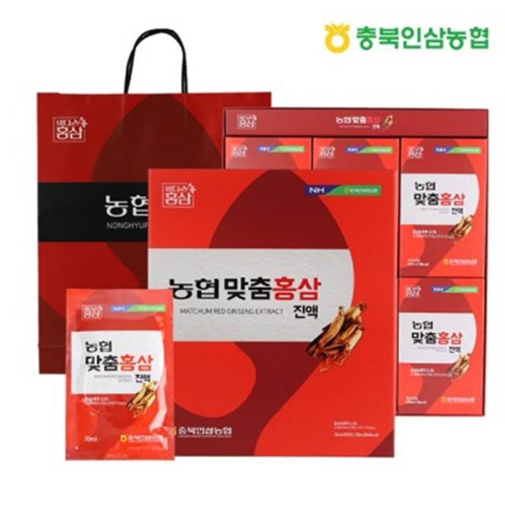 충북인삼농협 맞춤홍삼진액 70ml X 30포
