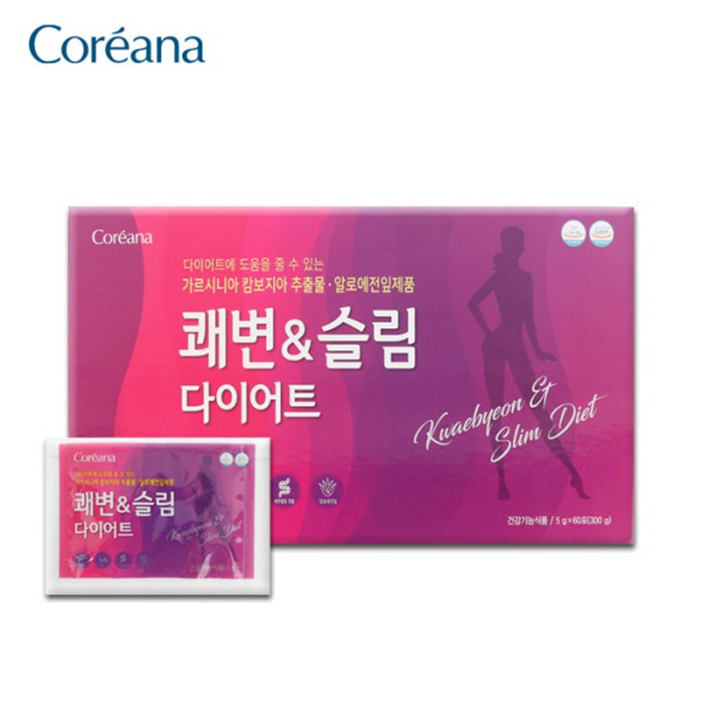 코리아나 쾌변&슬림다이어트 5g x 10포 x 6케이스