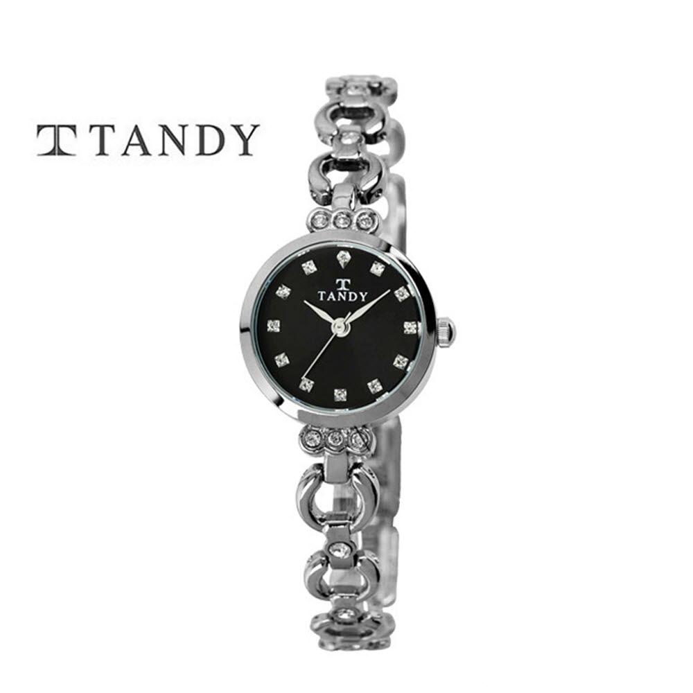 [TANDY] 탠디 럭셔리 여성용 쥬얼워치(스와로브스키 식입) T-4033 블랙