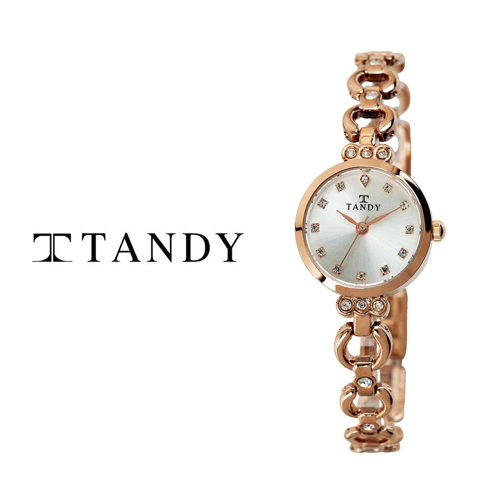 [TANDY] 탠디 럭셔리 여성용 쥬얼워치(스와로브스키 식입) T-4033 로즈골드