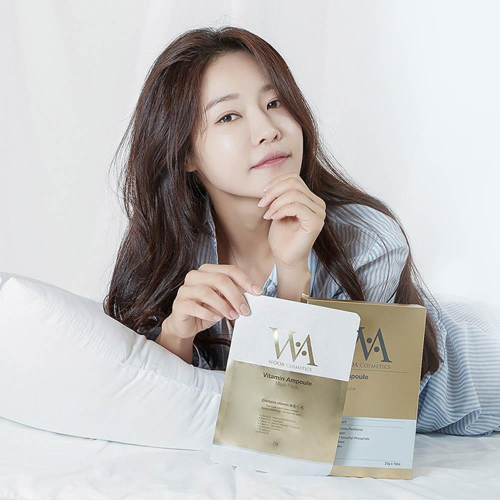 우아코스메틱 비타민 앰플 마스크팩 10매
