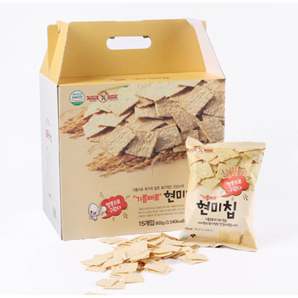 [푸디스]기름제로 현미칩 60g×15P/선물박스