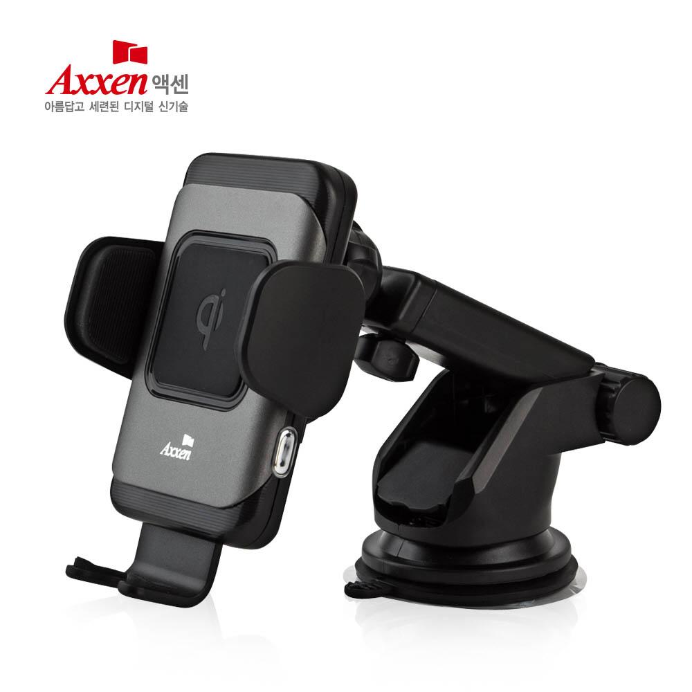 액센 FOD센서 차량용 휴대폰 무선충전 자동 거치대 C300