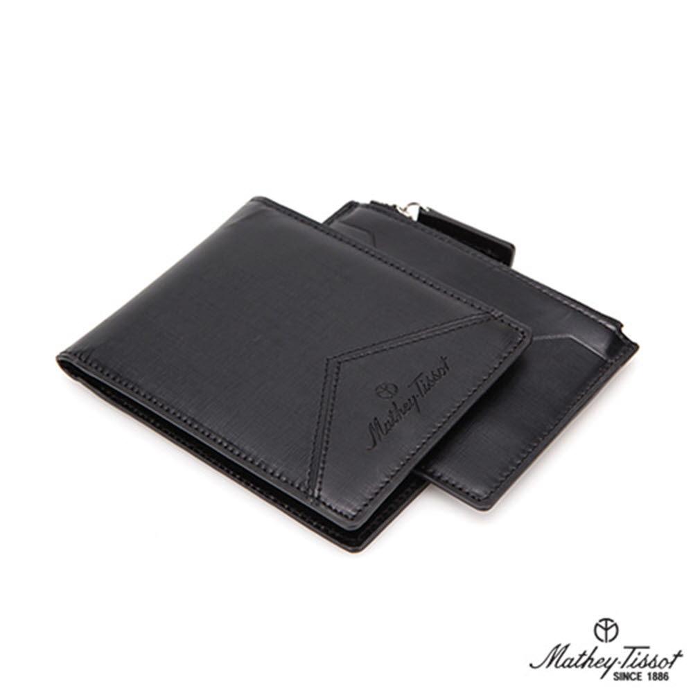 메티티솟(Mathey-Tissot) 반지갑 +지퍼형 카드지갑 2종 세트 (TMG1B2123BK/TMG1C2124BK)