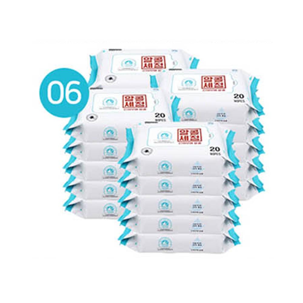 알콜세정 물티슈 20매 x 20팩